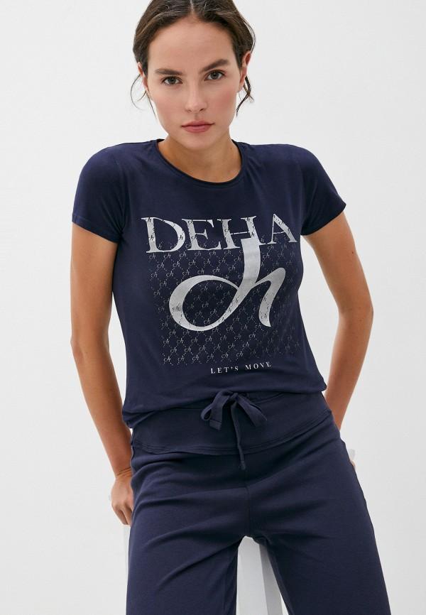 женская футболка deha, синяя