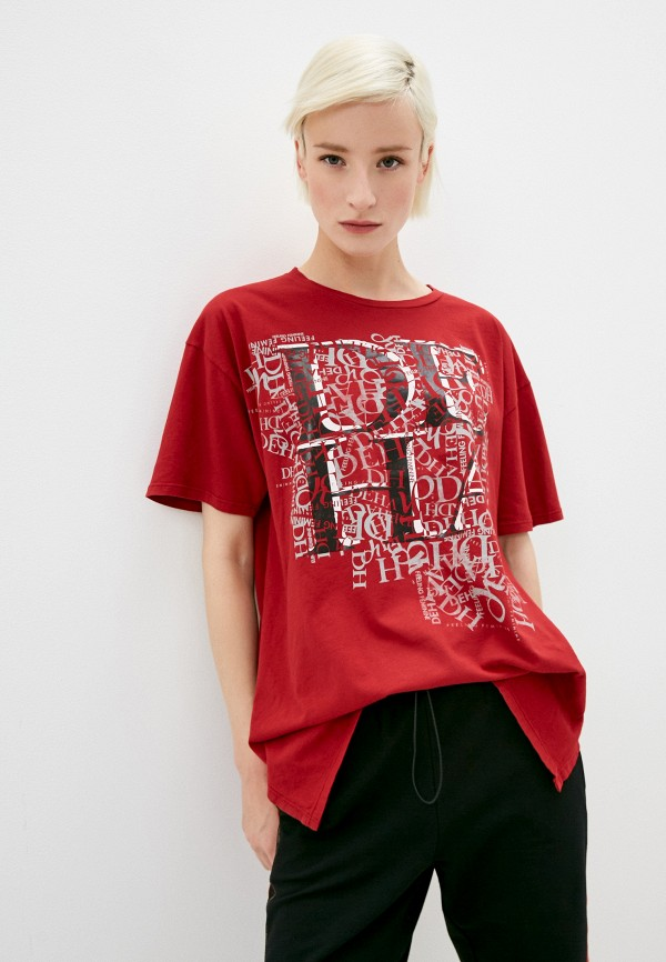 женская футболка deha, красная
