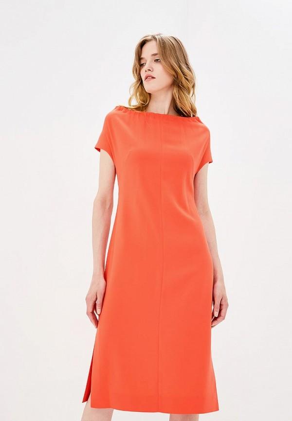 женское повседневные платье diane von furstenberg, оранжевое