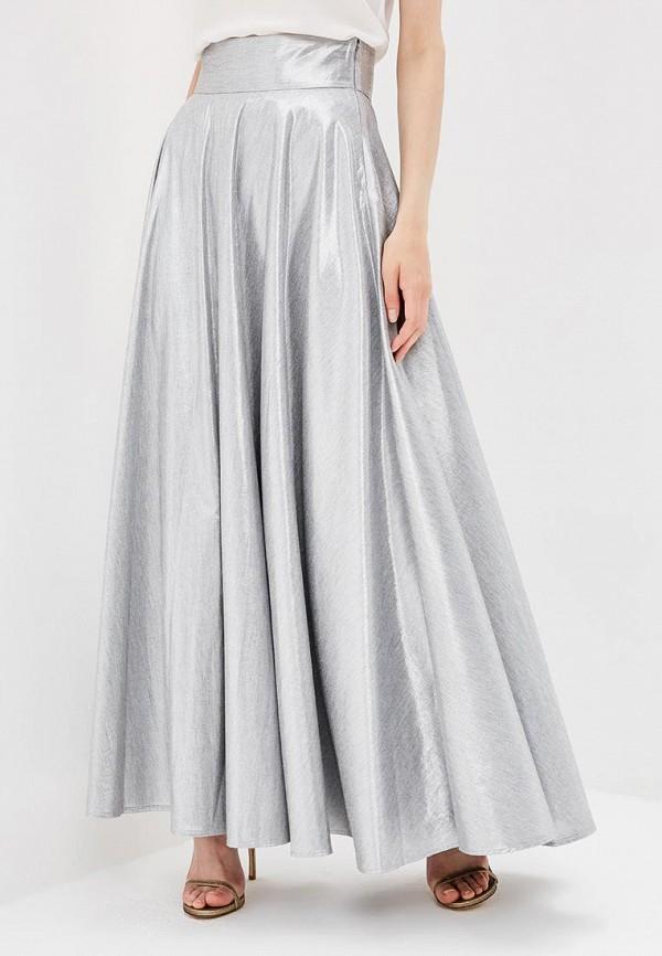 женская юбка diane von furstenberg, серебряная