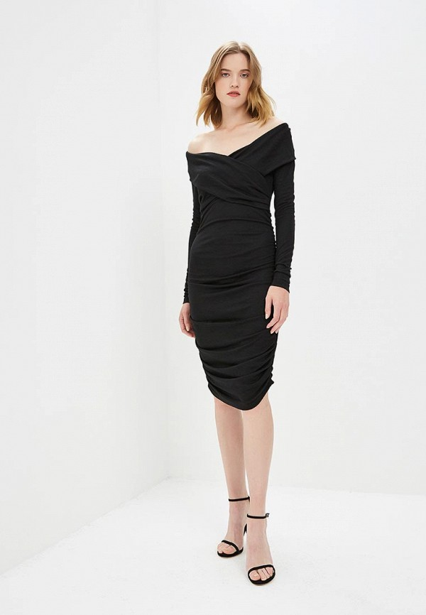 женское вечерние платье diane von furstenberg, черное
