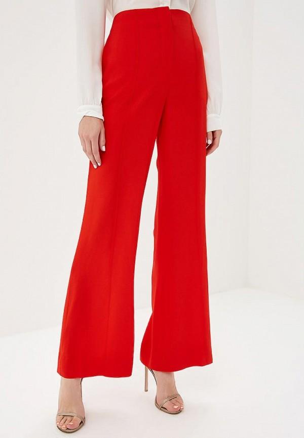 женские повседневные брюки diane von furstenberg, красные