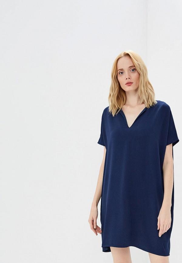 женское повседневные платье diane von furstenberg, синее