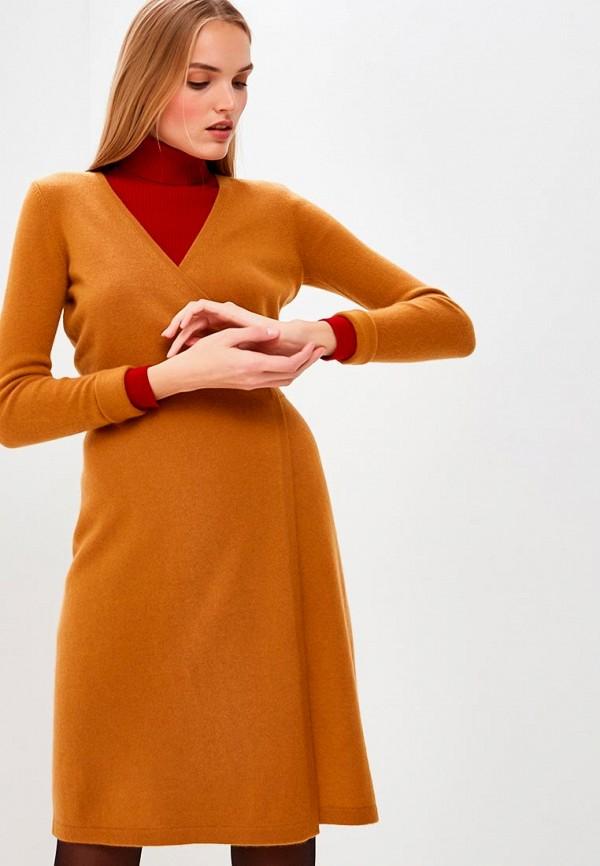 женское платье diane von furstenberg, коричневое
