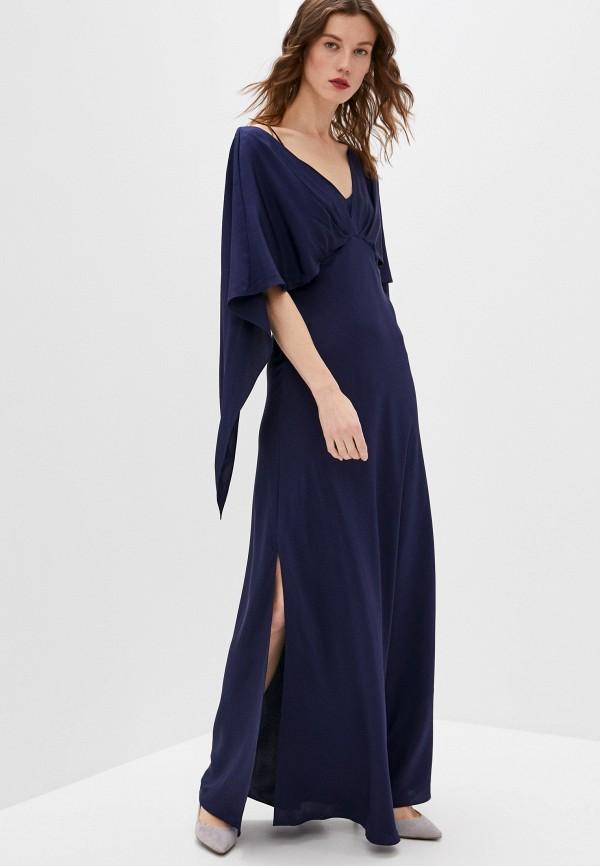 женское вечерние платье diane von furstenberg, синее