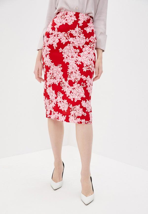 женская прямые юбка diane von furstenberg, красная