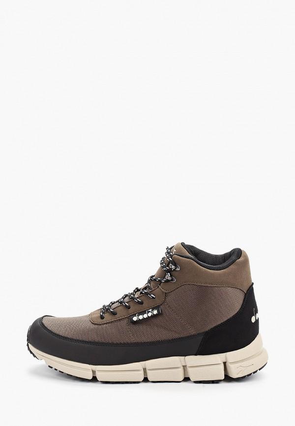 мужские ботинки diadora, коричневые