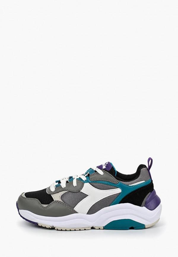 женские кроссовки diadora, серые