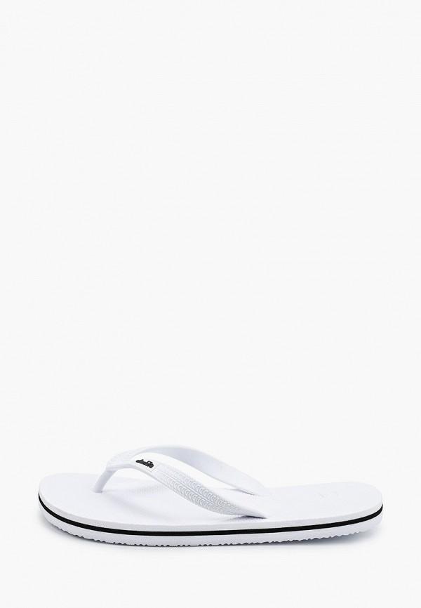 женские сланцы diadora, белые