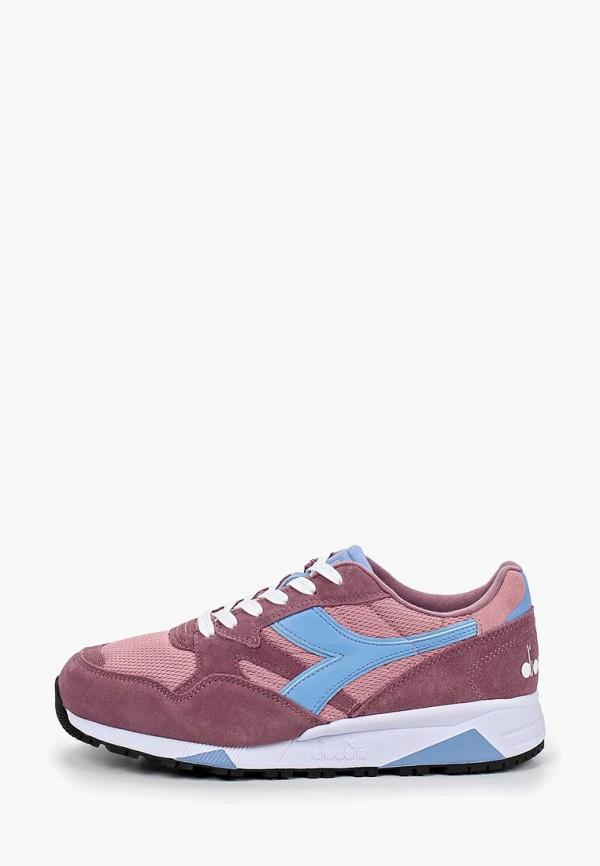 женские кроссовки diadora, розовые
