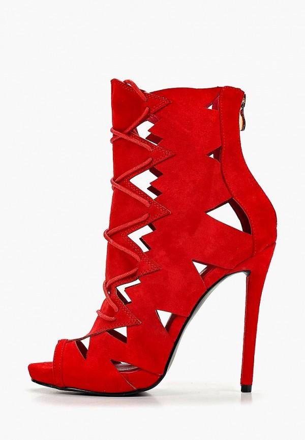 женские ботильоны diamantique, красные