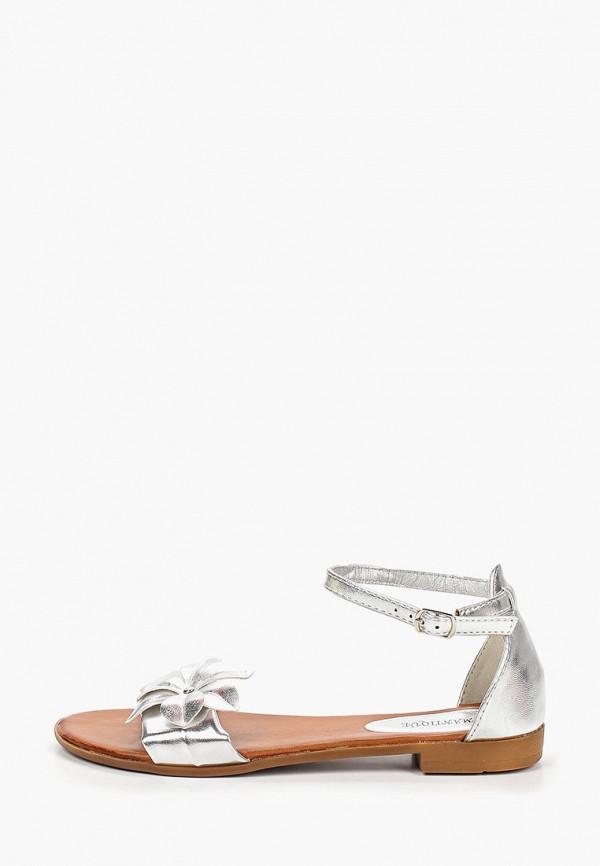 женские сандалии diamantique, серебряные