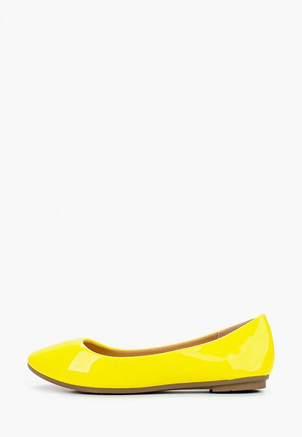 женские балетки diamantique, желтые