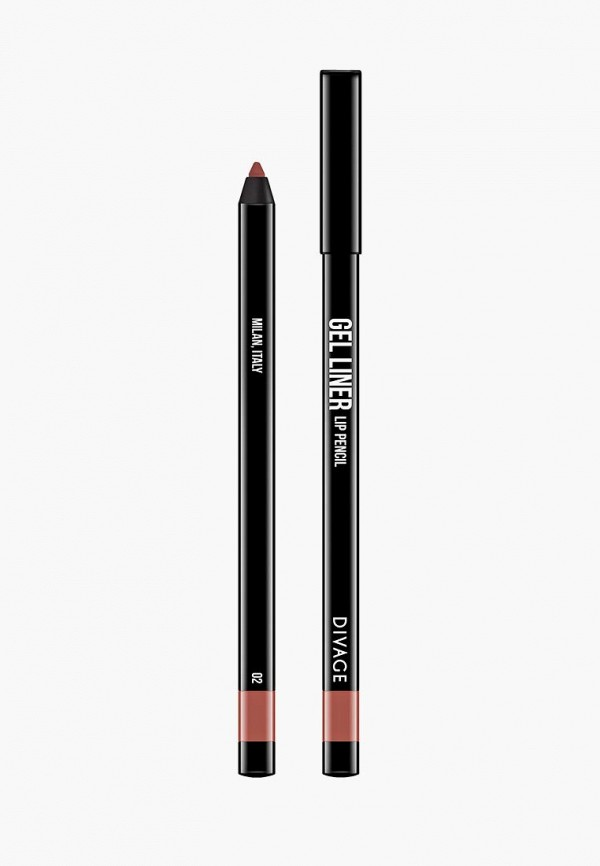 карандаш для губ divage, розовый