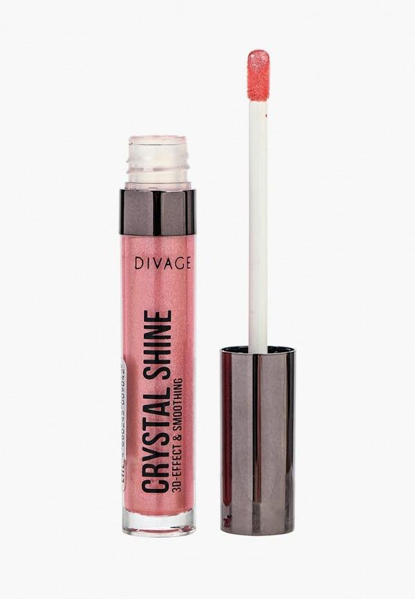 блеск для губ divage, розовый