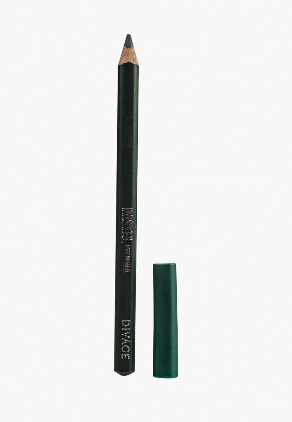 карандаш для глаз divage, зеленый