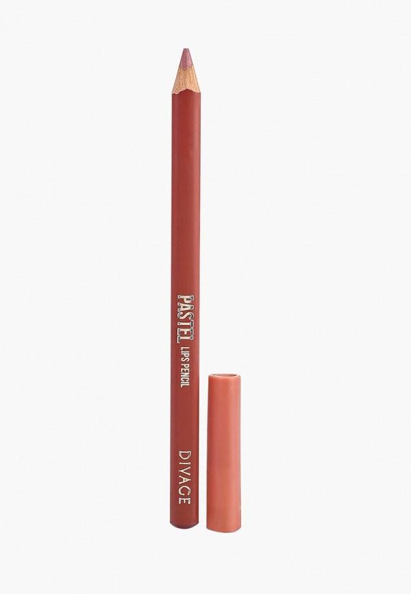 Карандаш для губ Divage Divage DI038LWRFA34 карандаш для губ divage pastel 02 цвет 2202 variant hex name eb9daa