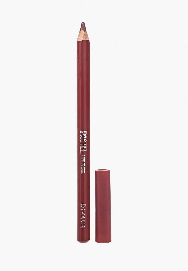 Карандаш для губ Divage Divage DI038LWRFA37 карандаш для губ divage pastel 02 цвет 2202 variant hex name eb9daa