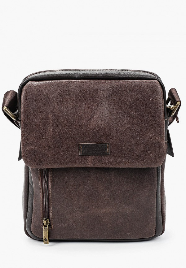мужская сумка через плечо dimanche, коричневая