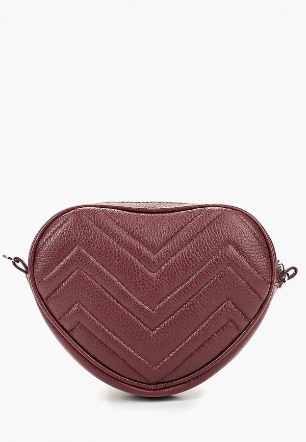 женская сумка dimanche, бордовая