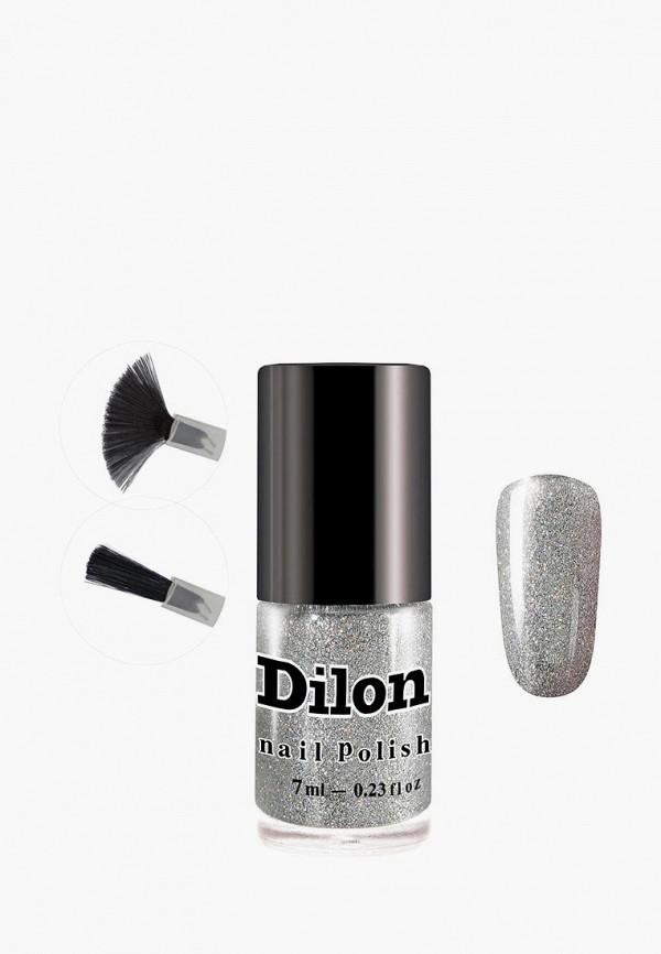 лак для ногтей dilon, серебряный