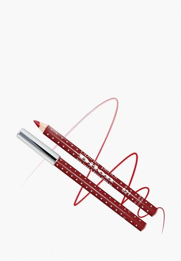 карандаш для губ dilon, красный