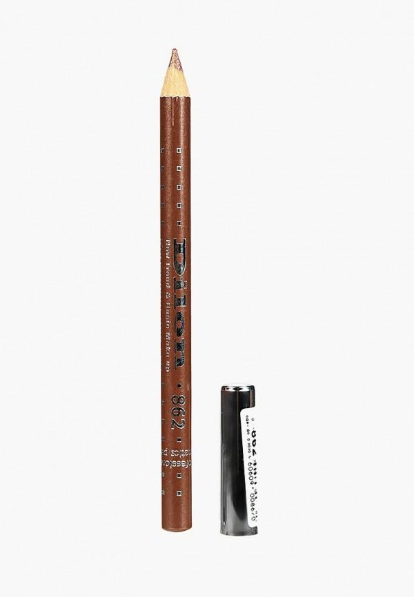 Купить Карандаш для губ Dilon, тон 862 АМАРЕТТО, DI043LWBZHF1, золотой, Осень-зима 2018/2019