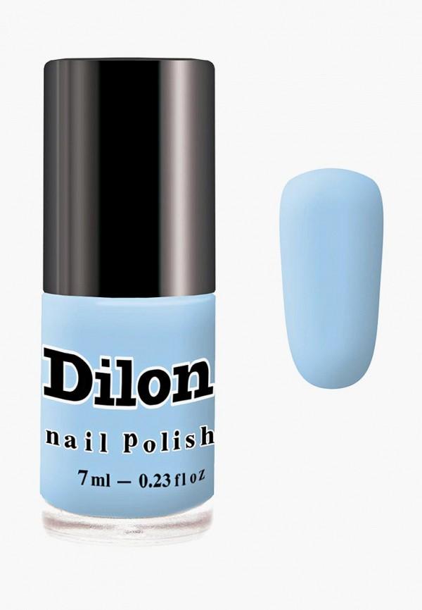 лак для ногтей dilon, голубой