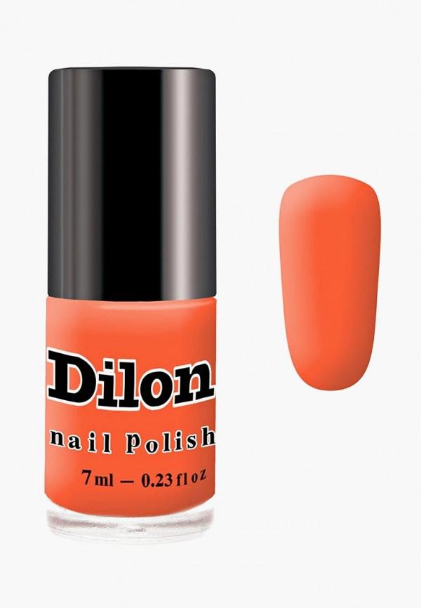 лак для ногтей dilon, оранжевый