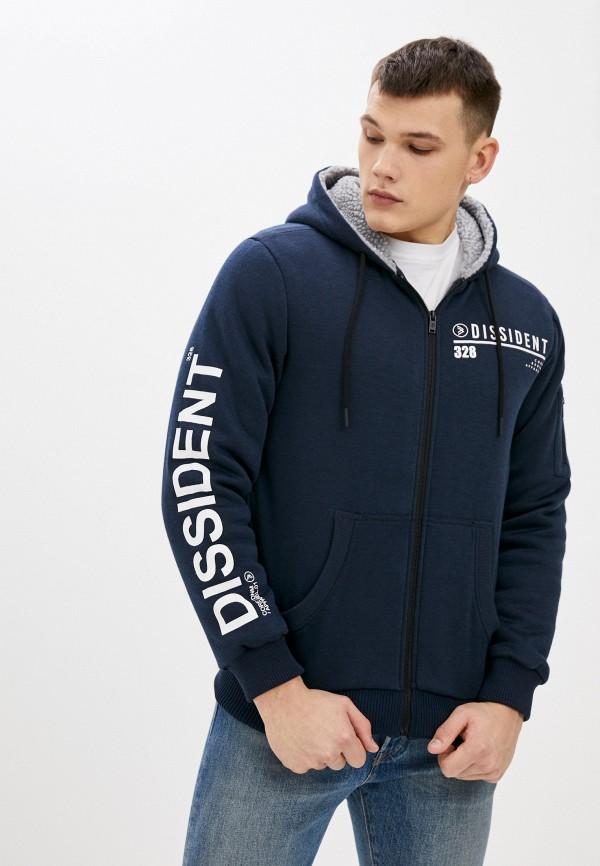 мужская толстовка dissident, синяя