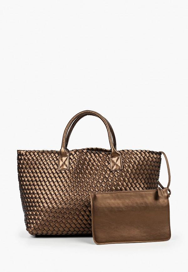женская косметичка-шоперы diverius, коричневая