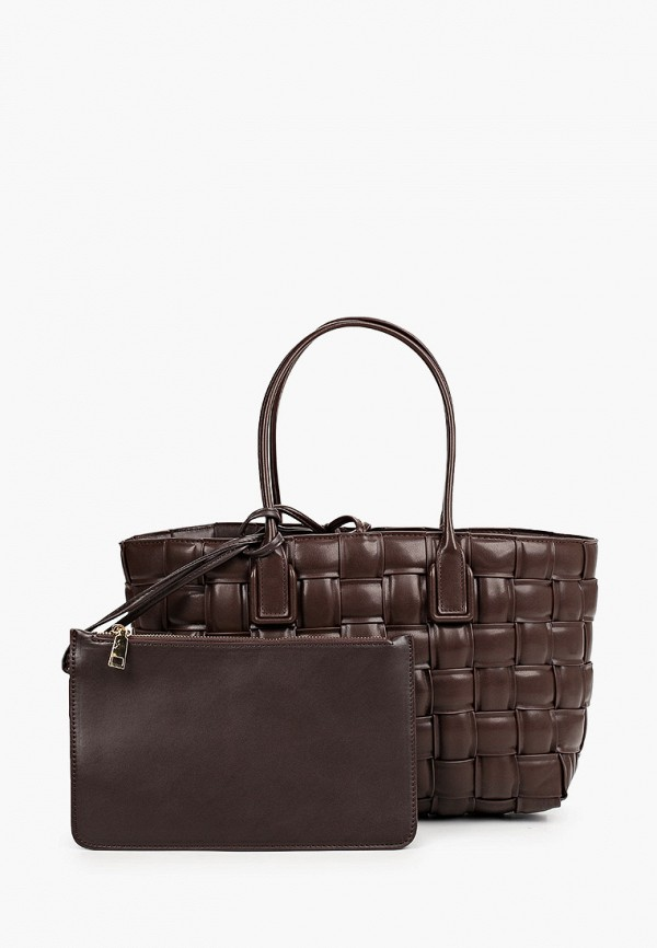 женская сумка с ручками diverius, коричневая