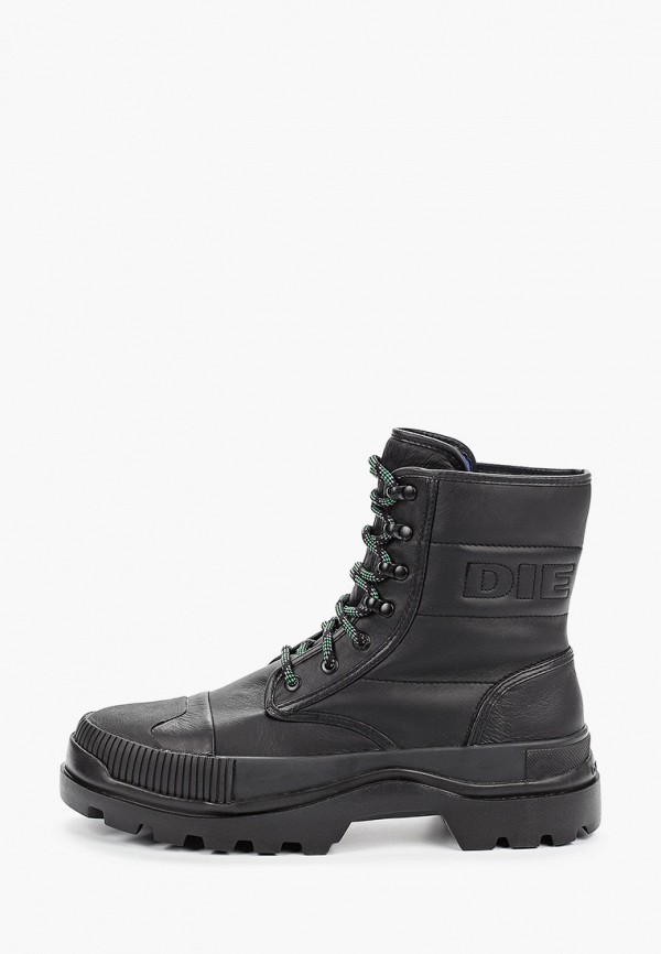 мужские высокие ботинки diesel, черные