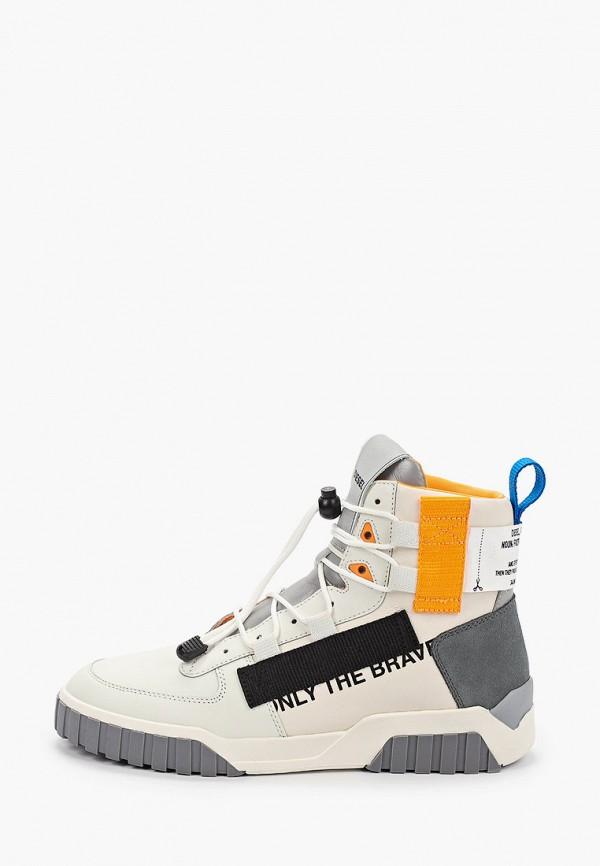 мужские кроссовки diesel, белые
