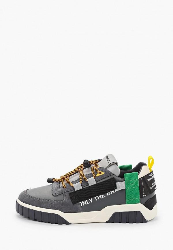 мужские кроссовки diesel, серые