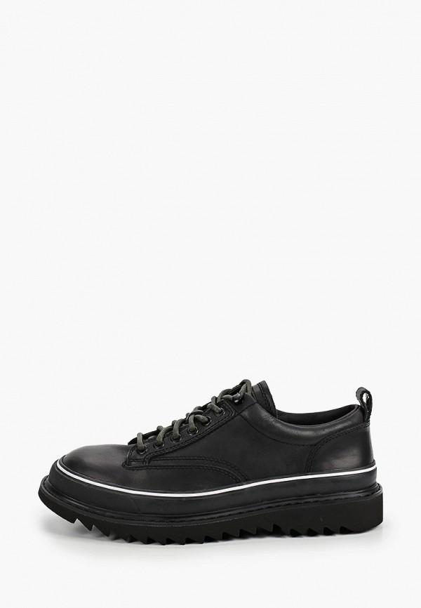 мужские туфли-дерби diesel, черные