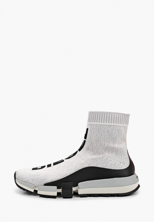мужские высокие кроссовки diesel, белые