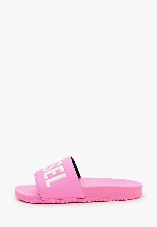 женские сланцы diesel, розовые