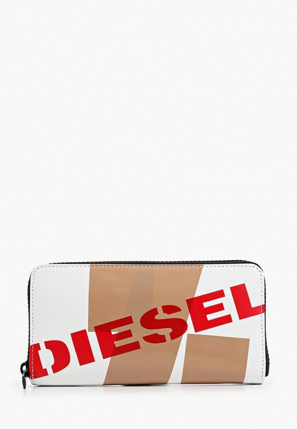 мужской кошелёк diesel, белый