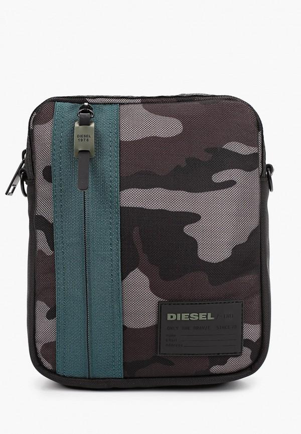 мужская сумка diesel, серая