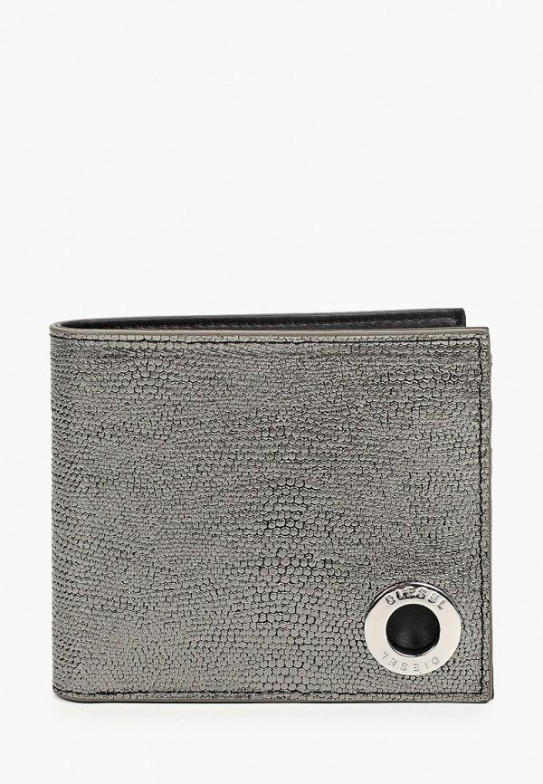 мужской кошелёк diesel, серый