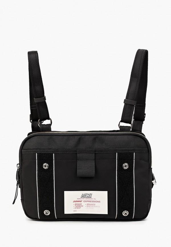 мужская сумка diesel, черная