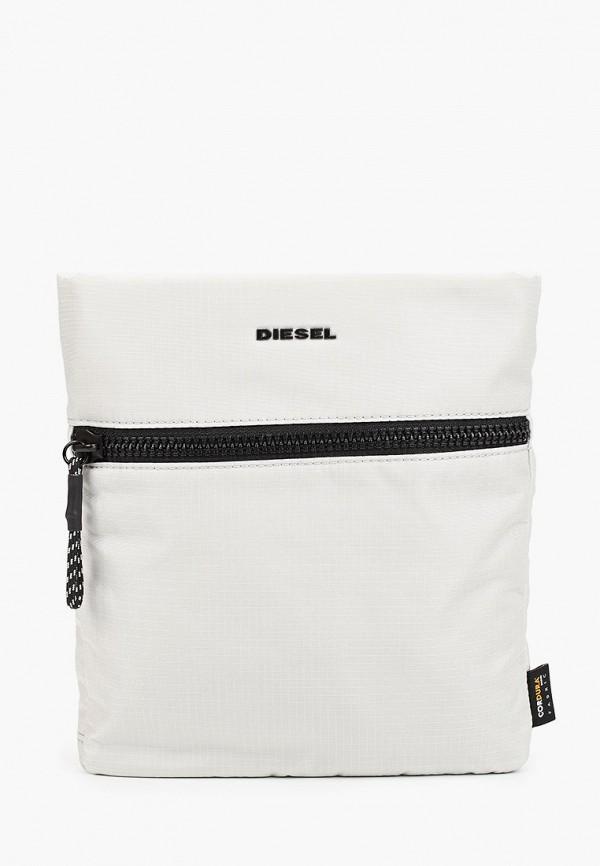 мужская сумка diesel, белая