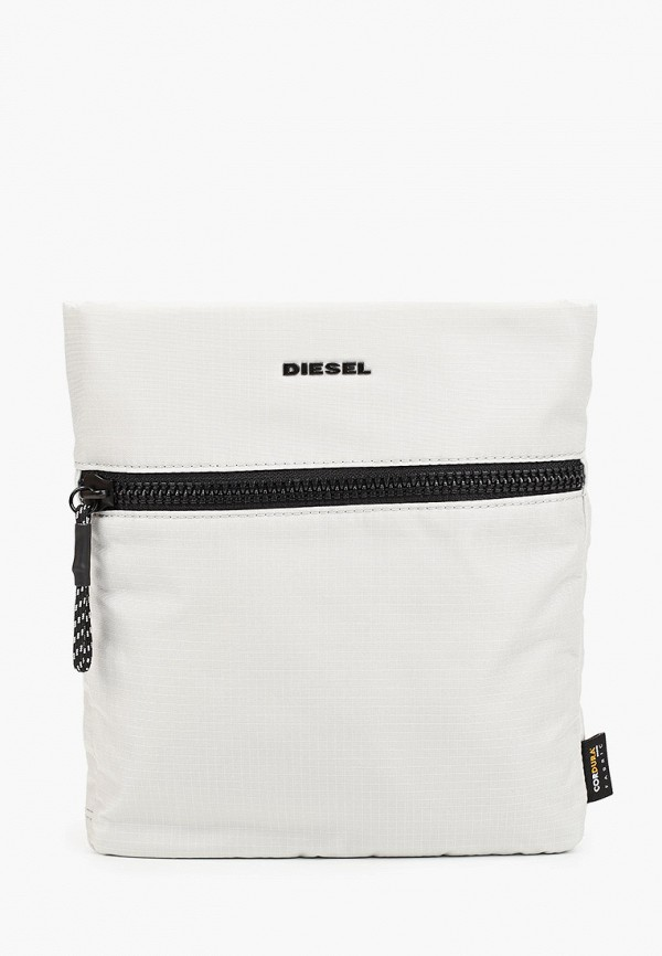 мужская сумка через плечо diesel, белая