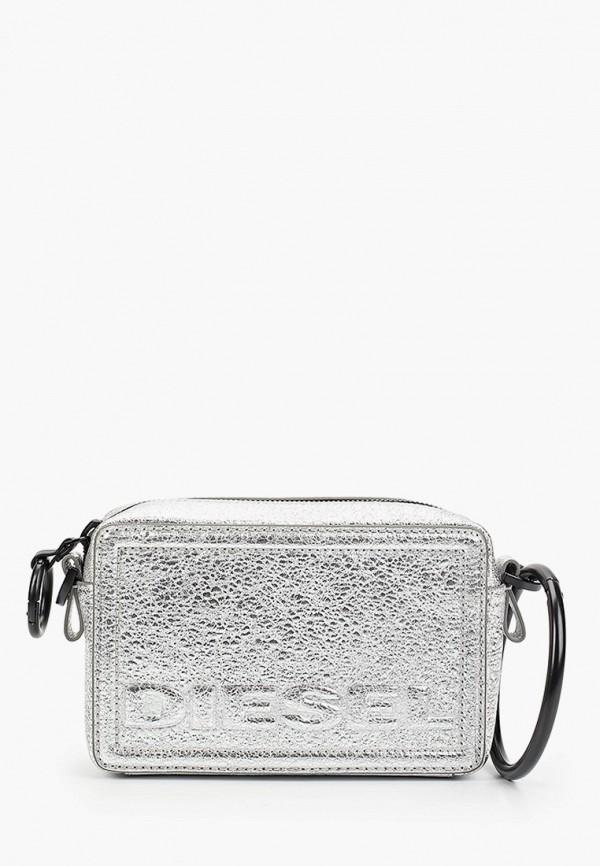 женская сумка diesel, серебряная