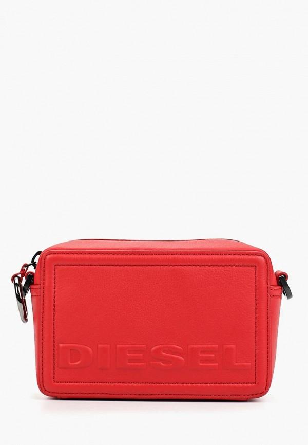 женская сумка diesel, красная