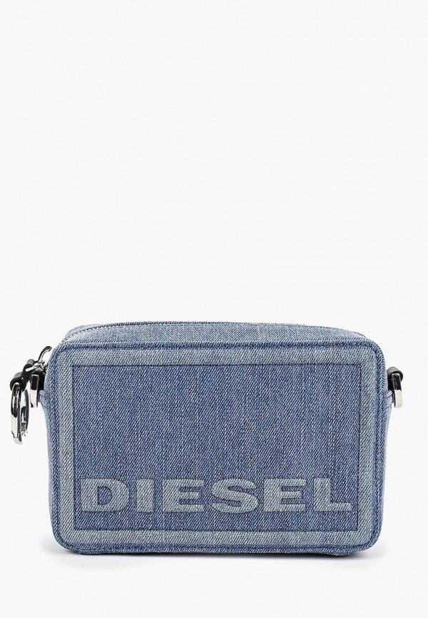 женская сумка diesel, голубая
