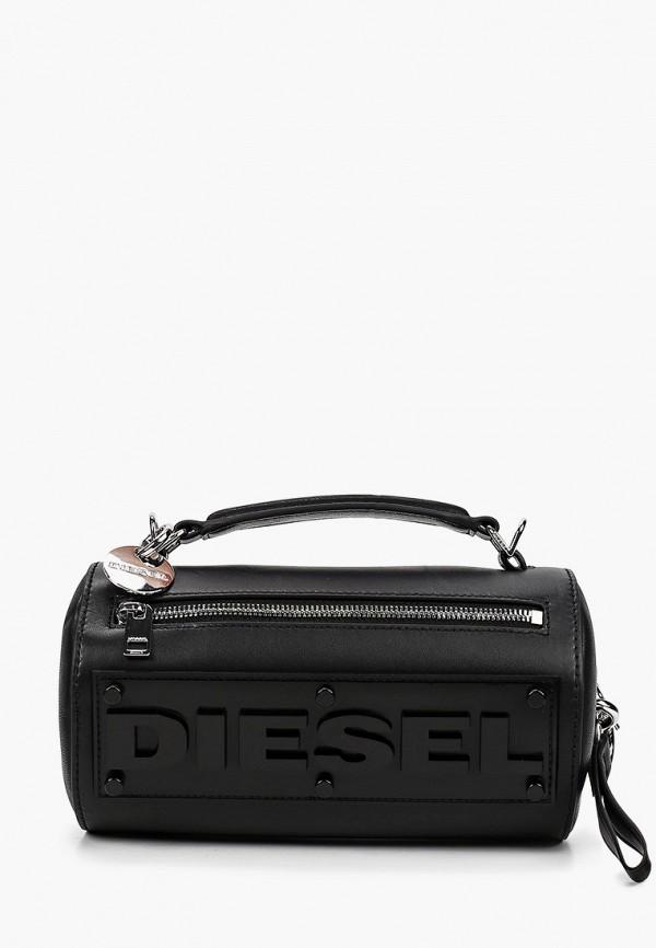 женская сумка с ручками diesel, черная