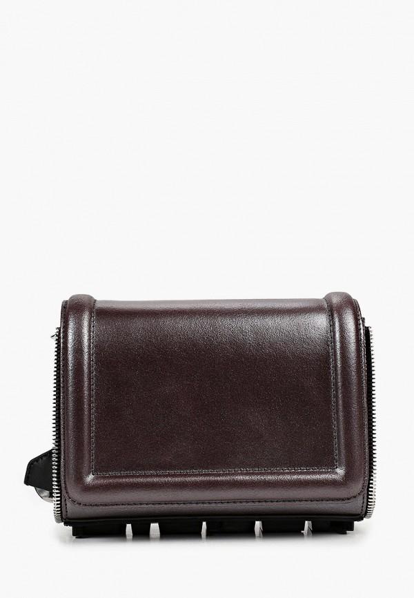 женская сумка через плечо diesel, коричневая