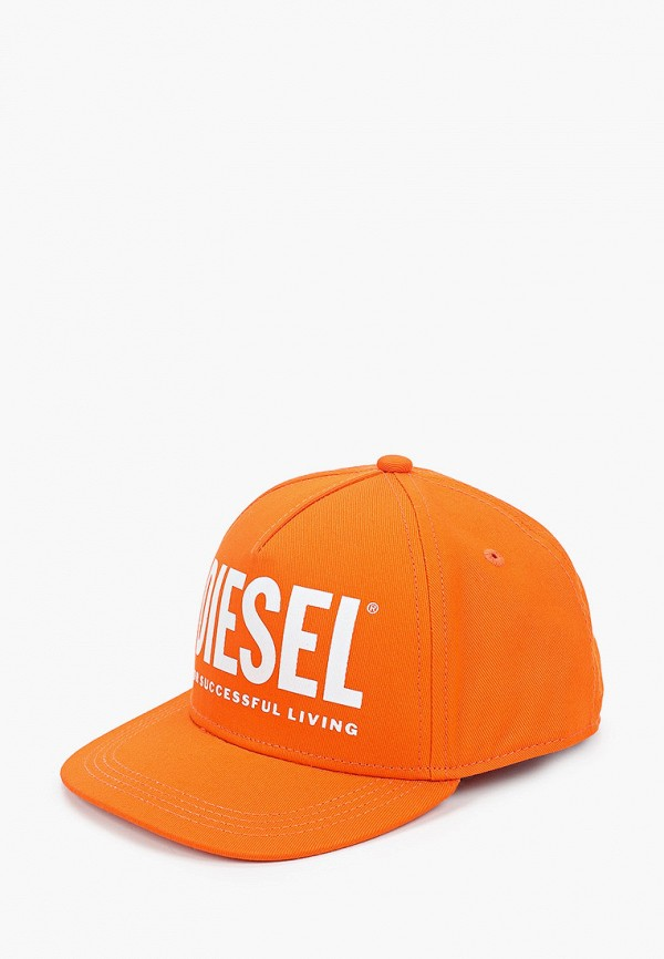 бейсболка diesel для мальчика, оранжевая